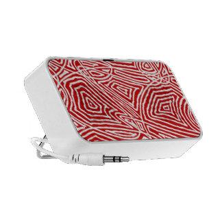 Red Scribbleprint Travel Speakers