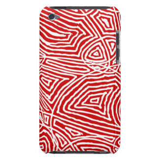 Red Scribbleprints Barely There iPod Cover