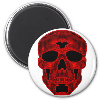Red Scull Refrigerator Magnet