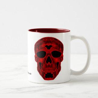 Red Scull Two-Tone Coffee Mug