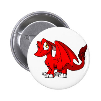 Red SD Furry Dragon Buttons