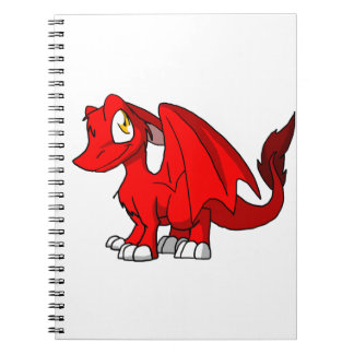 Red SD Furry Dragon Spiral Notebook
