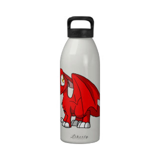 Red SD Furry Dragon Water Bottle