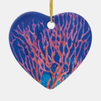 red sea branches ceramic ornament