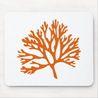 red sea coral silhouette mousepad