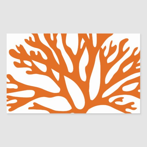 Red Sea Coral Silhouette Stickers