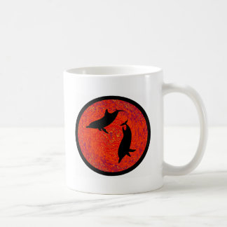 RED SEA DOLPHINS CLASSIC WHITE COFFEE MUG