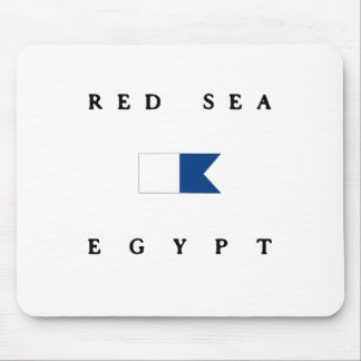 Red Sea Egypt Alpha Dive Flag Mouse Pad