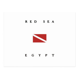 Red Sea Egypt Scuba Dive Flag Postcard