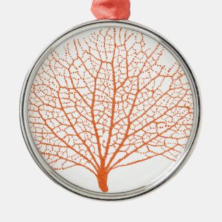 red sea fan coral silhouette christmas ornaments
