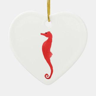 Red Sea Horse Ceramic Ornament