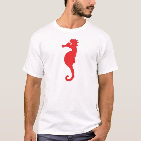 red sea horse icon T-Shirt