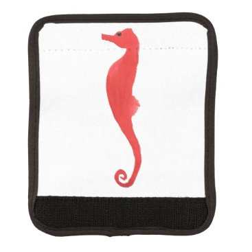 Beach Themed Red Sea Horse Luggage Handle Wrap