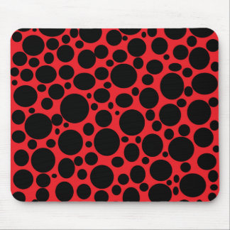 Red Sea of Black Bubbles Mousepad