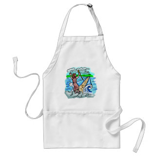 Red Sea parting Christian artwork Adult Apron