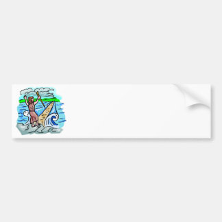 Red Sea parting Christian artwork Bumper Sticker