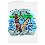 Red Sea parting Christian artwork Card