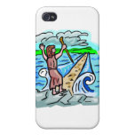 Red Sea parting Christian artwork Cover For iPhone 4