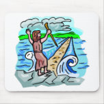 Red Sea parting Christian artwork Mouse Pad