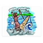 Red Sea parting Christian artwork Postcard