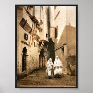 Red Sea street, Algiers, Algeria classic Photochro Print