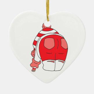 Red Seaham Seaglass Ceramic Ornament