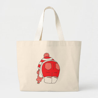 Red Seaham Seaglass Large Tote Bag