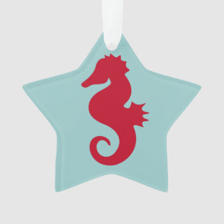 Red Seahorse Ornament
