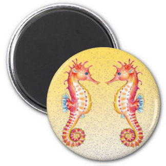 red seahorse yellow magnet