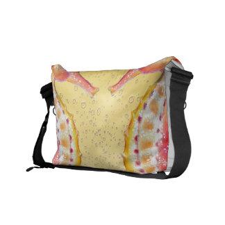 red seahorse yellow messenger bag