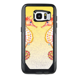 red seahorse yellow OtterBox samsung galaxy s7 edge case