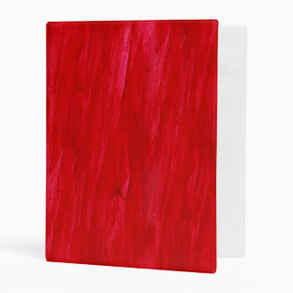 Red Seamless Background Abstract And Watercolor Mini Binder