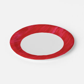 Red Seamless Background Abstract And Watercolor Paper Plate