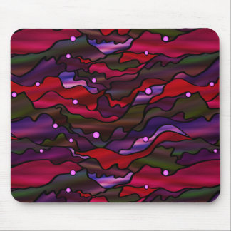Red Seascape Abstract Mouse Pad