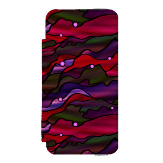 Red Seascape Stained Glass Abstract iPhone SE/5/5s Wallet Case