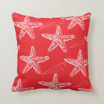 Red Seashell Pillow