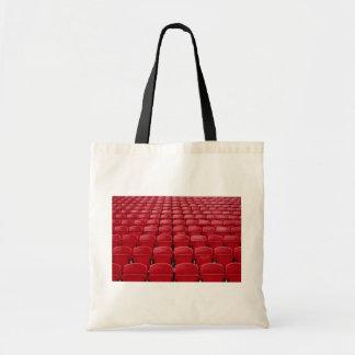 Red seats at football stadium bags