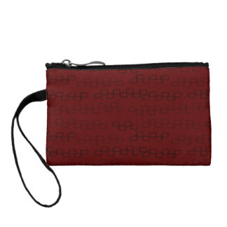 Red seaweed menace design change purse