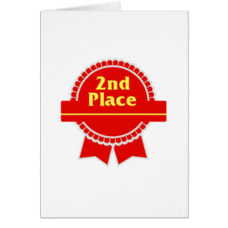 Red Second Place Ribbon Card