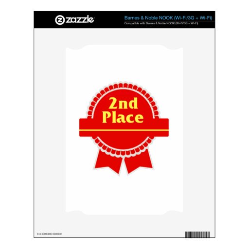 Red Second Place Ribbon NOOK Skin