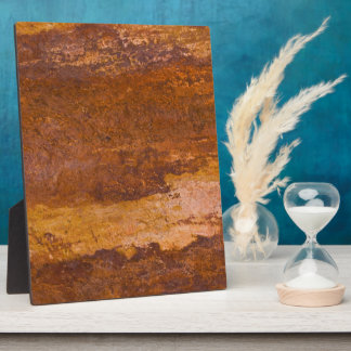Red Sedimentary Rock Nature Sandstone Grainy Stone Plaque