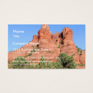 Red Sedona Mountain Business Card
