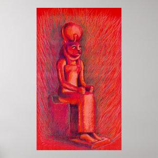 Red Sekhmet Poster
