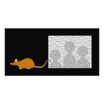 Red Self Color Pet Mouse. Card