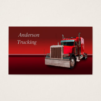 Red Semi Business Card