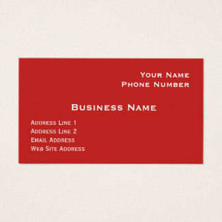 Red Semi-Gloss Business Card Template