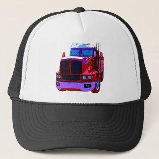 Red Semi Truck Trucker Hat