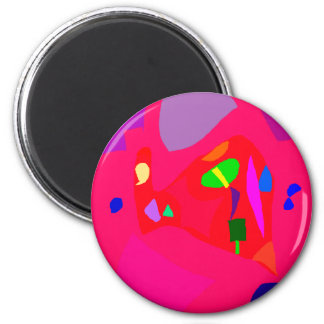 Red Sensation No Material Soul Engaging 2 Inch Round Magnet
