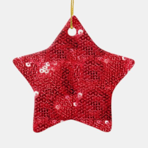 Red Sequin Background Christmas Ornaments