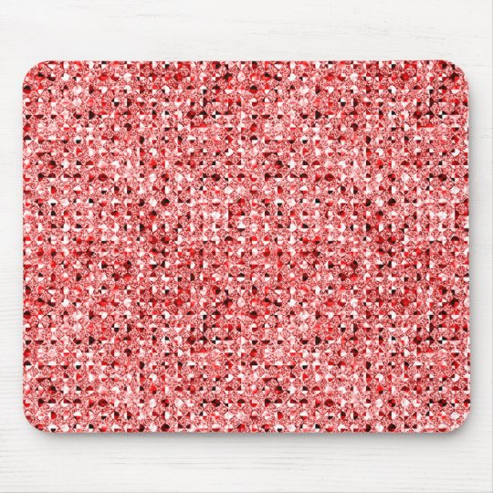red sequin effect mousepad
